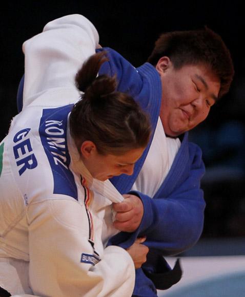 Sisi Ma de China ganó el Oro en más de 78 kg frente a la Alemana Franziska Konitz, l  Grand Prix de Judo La Habana 2014. Foto: Ismael Francisco/Cubadebate.