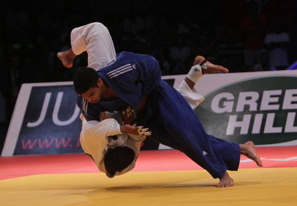 Magdiel Estrada de Cuba pierde en la final por Ipon ante Sagi Muki de Israel  en Grand Prix Habana 2014. Foto: Ismael Francisco/Cubadebate.