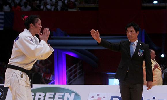 La cubana Yalennis Castillo gana medalla de bronce en Grand Prix de Judo La Habana 2014. Foto: Ismael Francisco/Cubadebate.