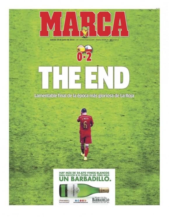 la portada de la revista marca