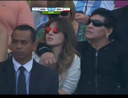 maradona en estadio
