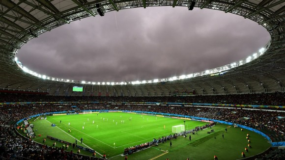 General view during the 2014 FIFA World Cup Brazil Round of 16 match between Germany and Algeria at Estadio Beira-Rio on June 30, 2014 in Porto Alegre