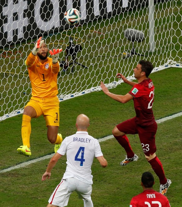 Tim Howard, de EEUU. Foto: Reuters