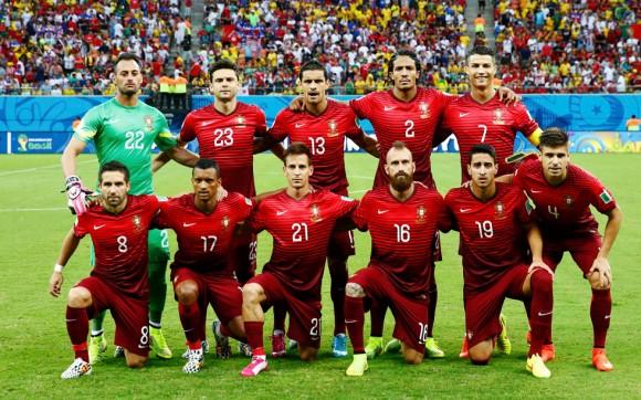 El equipo de Portugal. Foto: Reuters