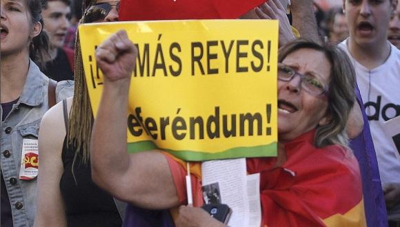 protestas en españa contra el Rey