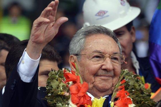Raúl en Bolivia. Foto: AFP