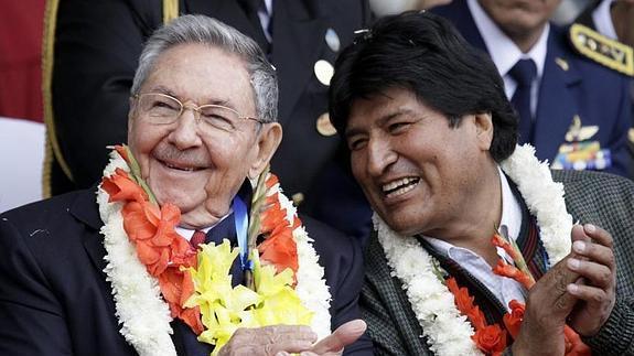 Raúl y Evo.