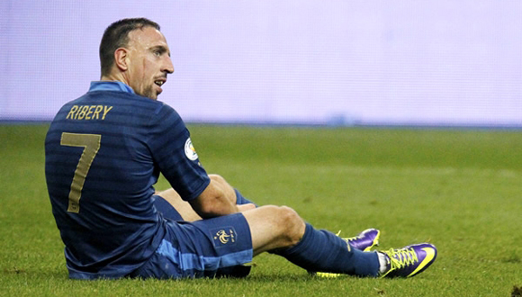 Francés Ribéry se perderá el Mundial de Brasil 2014