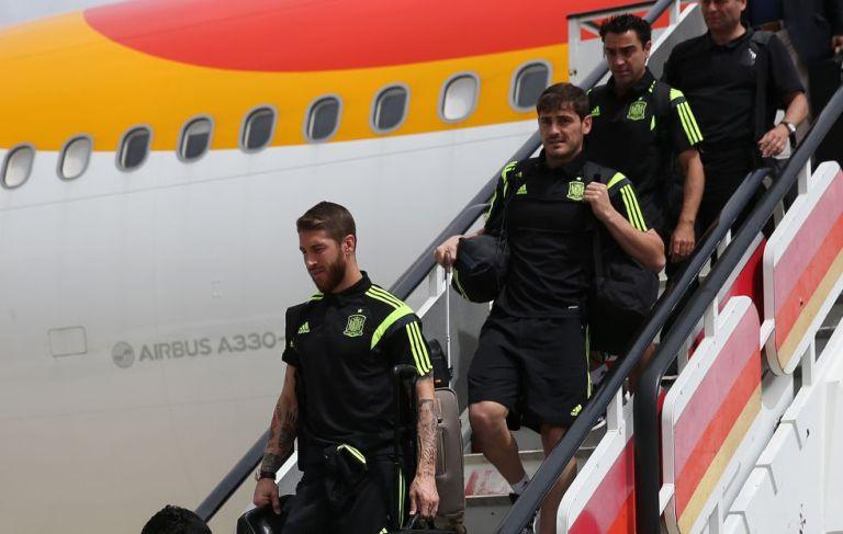 seleccion española llega a Madrid tras el mundial de fútbol