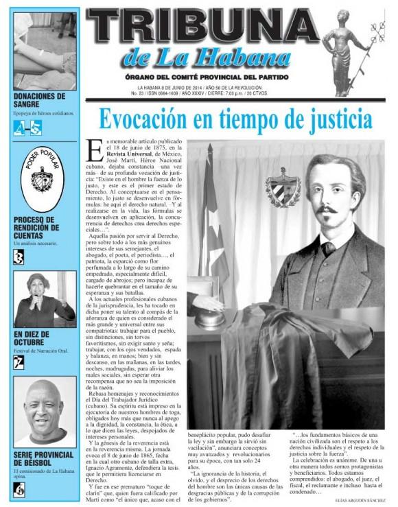 Tribuna de La Habana, domingo 8 de junio de 2014