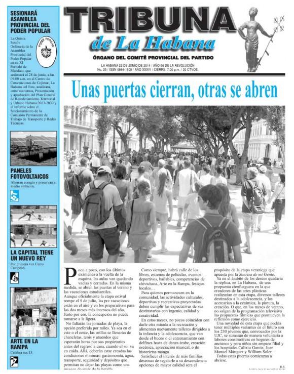 Tribuna de la Habana, domingo 22 de junio de 2014