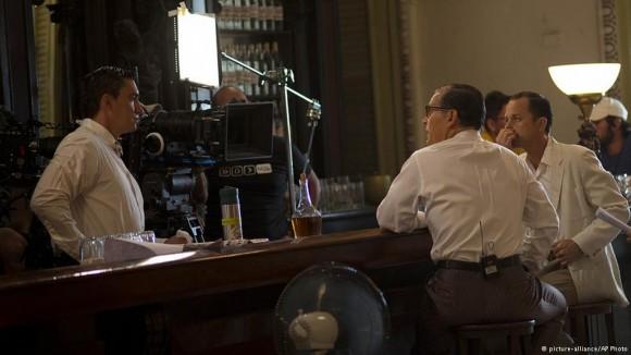 Trabajos de filmación de Papá en La Habana.