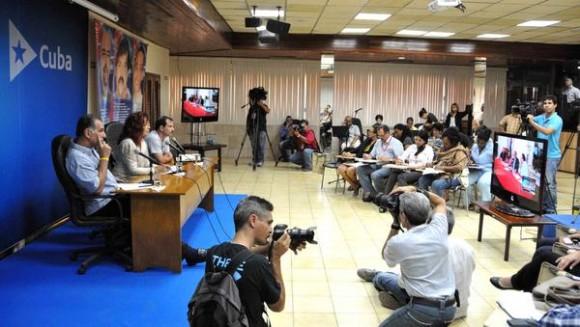 Videoconferencia entre La Habana y Washington, sobre los Cinco Héroes, en el ministerio de Relaciones Exteriores de Cuba (MINREX), en La Habana, el 10 de junio de 2014. AIN FOTO/Marcelino VAZQUEZ HERNANDEZ