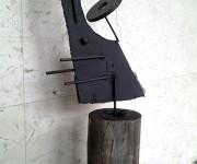 Abstracción en hierro y Madera