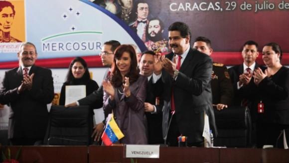 Argentina recibió de Venezuela la Presidencia Pro Témpore del Mercosur. Foto AVN