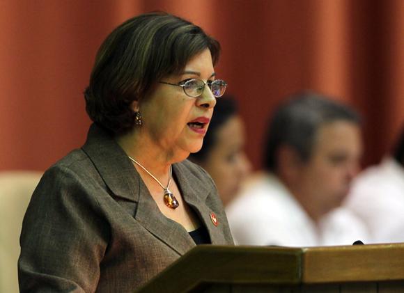 Lina Peraza, Ministra de Finazas y Precios. Foto: Ladyrene Pérez/Cubadebate.