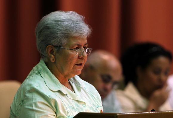 Gladys Bejerano, Contralora General y Vicepresidenta del Consejo de Estado. Foto: Ladyrene Pérez/Cubadebate.