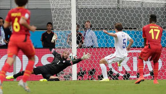 Bélgica vence 2-1 a EEUU en tiempo extra y accede a cuartos de final