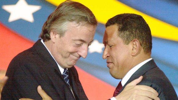 Chávez y Kirchner