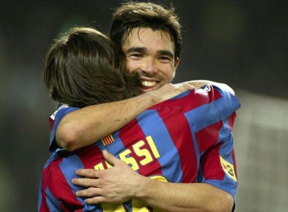Lionel Messi y Deco.