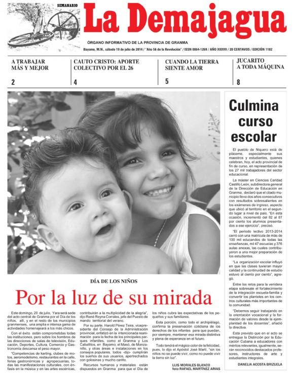 Periódico La Demajagua, provincia Granma, sábado 19 de julio de 2014