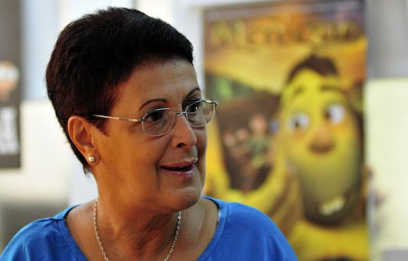 """Esther Hirzel, directora de los estudios cubanos de animación, confirmó que una decena de países firmaron contratos para la distribución de """"Meñique"""", primer largometraje cubano animado en 3D. Foto: Ladyrene Pérez/ Cubadebate"""