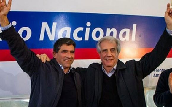 Fórmula presidencial del Frente Amplio, Tabaré Vázquez (der.) y Raúl Sendic.
