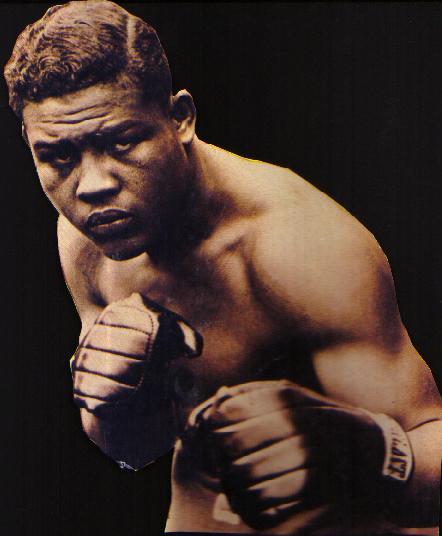 Joe Luis cuando se encontraba aún activo en el boxeo.