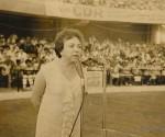 Melba Hernández en una actividad de solidaridad con Vietnam. Foto: Archivo.