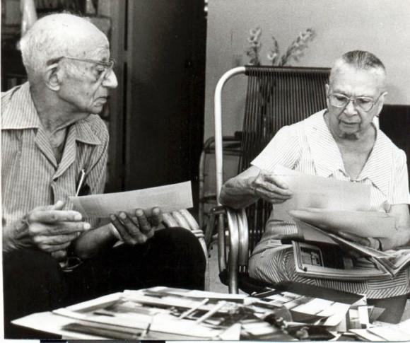 Manuel Hernández Vidaurreta (1896-1992) y Elena Rodríguez del Rey (1898-1999), padres de Melba, en una entrevista a Granma, en 1983. Foto: Liborio Noval.