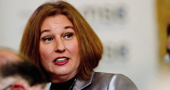 Ministra de Justicia de Israel, Tzipi Livni. Foto: