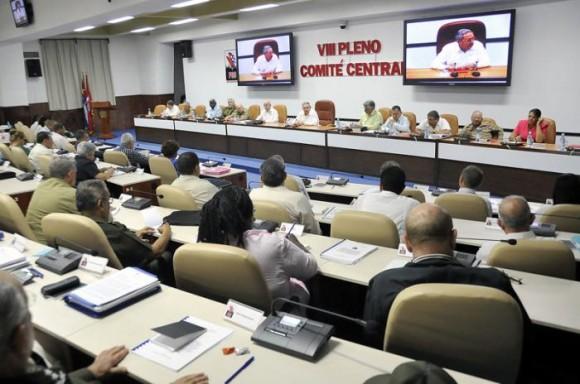VIII Pleno del Comité Central del PCC, 3 de julio de 2014. Foto: Estudios Revolución