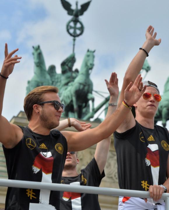 Recibimiento a campeones alemanes futbol 5