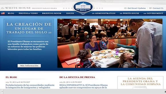 Sitio web de la Casa Blanca
