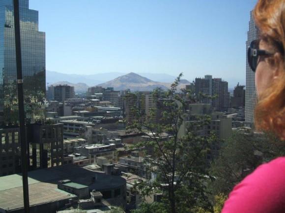 Vista desde el cerro de Santa Lucía en Santiago de Chile.  Foto: Patria Calvo Ferreiro