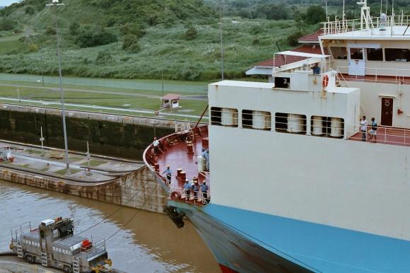 WikiMedia: Esclusas de Miraflores, Canal de Panamá.