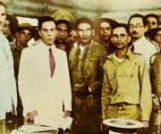WikiMedia: Los líderes de la revolución de de 1933: Ramón Grau, Sergio Carbó y el sargento Fulgencio Batista.