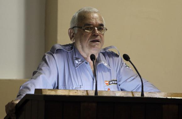 Jesús Becerra, Jefe de la Dirección General de la Policía Nacional Revolucionaria. Foto: Ladyrene Pérez/Cubadebate.