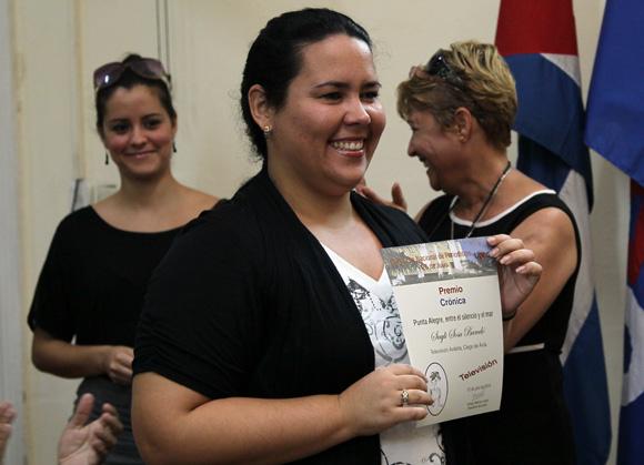 Saili Sosa, de Televisión Avileña, Foto: Ismael Francisco/Cubadebate.