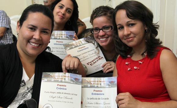 Jovenes Periodistas Premiados. Foto: Ismael Francisco/Cubadebate.