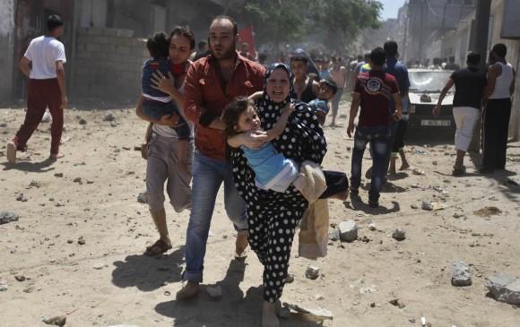 Alarma: bombardeo en Gaza. Foto: Reuters
