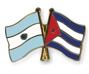 cuba y argentina banderas