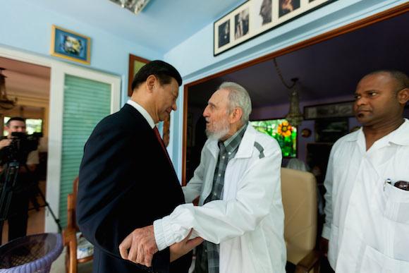 Recibió Fidel al Presidente de la República Popular China