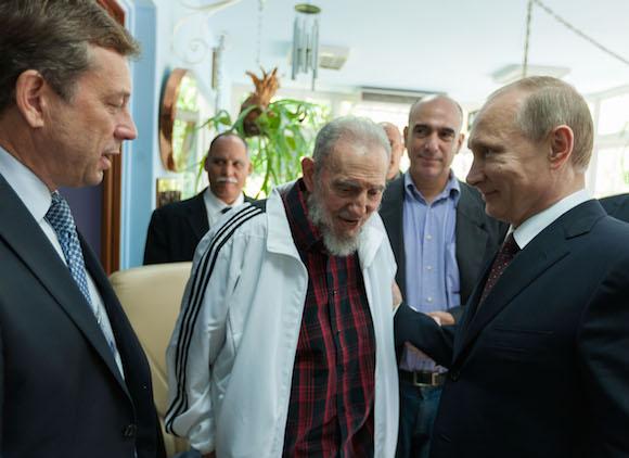 Recibió Fidel Castro al presidente Putin