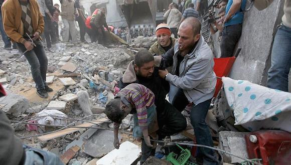 Palestinos consideran una declaración de guerra el ataque israelí a Gaza
