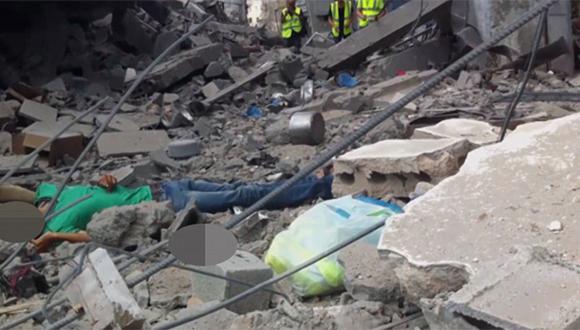 El cuerpo sin vida después del segundo impacto de bala