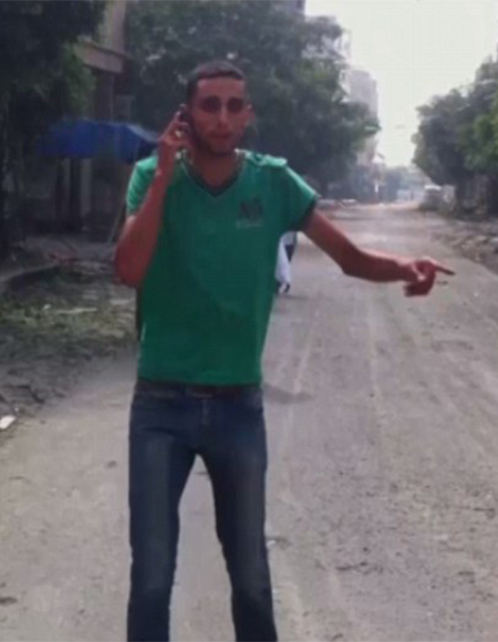 Joven palestino momentos antes de su asesinato
