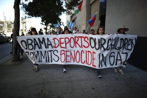 Crece en Estados Unidos el número de organizaciones civiles y religiosas que exigen un trato digno y humano a los menores de edad que ingresan al país sin acompañantes. La imagen, en Los Ángeles. Foto Reuters