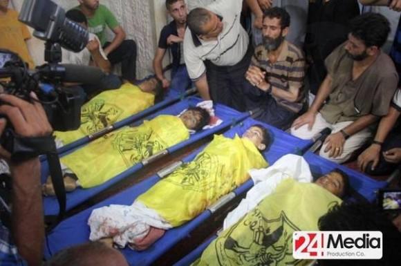 Con estas nuevas muertes, son ya 43 los niños palestinos muertos desde que el pasado 8 de julio Israel lanzó su tercera ofensiva militar. Foto: 24MediaProduction/ Twitter