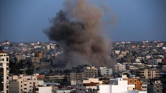 Ofensiva israelí en Palestina.